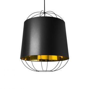 Petite friture Suspension Lanterna Medium / Ø 47 x H 60 cm noir,or en métal