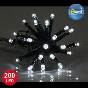 Codico Guirlande lumineuse blanc - 200 leds fil vert - 8 m - Guirlande électrique