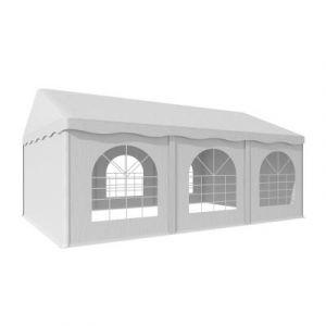 Blumfeldt Sommerfest 4x6m 500 g/m² Chapiteau tente PVC étanche réfractaire blanc