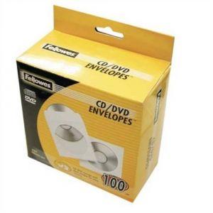 Fellowes 90690 - Lot de 50 enveloppes pour CD/DVD, en papier blanc 80 g/m²