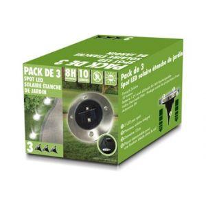 Temium Spot LED à encastrer extérieur solaire - Pack de 3