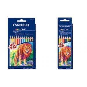 Staedtler 128NC6 - 6 Crayons de couleur Noris Club triplus jumbo