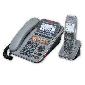 Amplicomms PowerTel 1880 - Téléphone filaire avec combiné sans fil