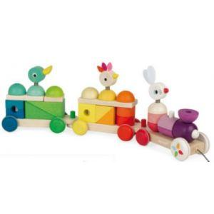 Janod Train géant multicolor - Zigolos