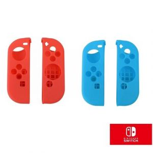 Straße Game 2x Housse Silicone de Protection pour Joy-Con de Nintendo Switch - Rouge et Bleu