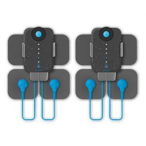 Bluetens Duo Sport + Accessoires - 2 Duo Sport - 2 Packs de 4 électrodes Taille M Sport et 8 électrodes Taille S Sport