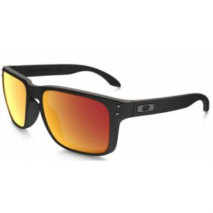 Oakley OO9102-51 Holbrook Matte Black Ruby Polarized New
