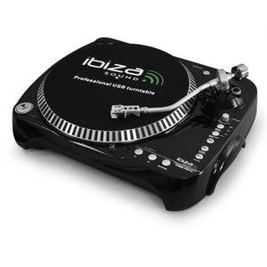 Image de Ibiza Sound Platine-disque avec enregistreur USB/SD