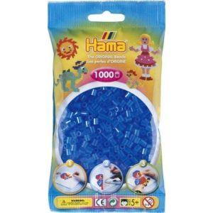 Hama 207-15 - Loisir Créatif - Midi Sachet 1000 Perles - Bleu Transparent