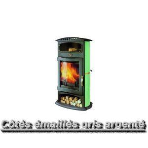 Godin 364103 - Poêle à bois Brulhaut 15 kw (Porte galbée et acier émaillé)