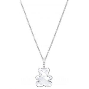 Swarovski : Collier et pendentif Bijoux 5410280 - Acier Argenté Ourson Femme