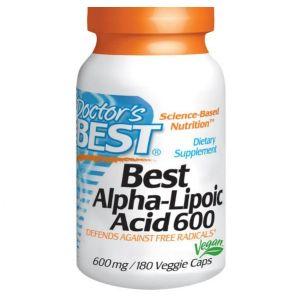 Doctor's best Best acide Alpha-lipoïque, 600 mg, 180 Veggie Caps