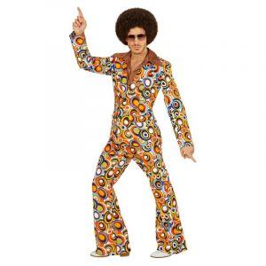 Widmann Déguisement Homme - Costume Bubbles - 70's - Années Disco - Taille L