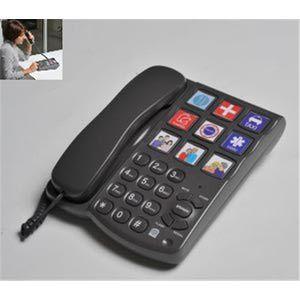 Hestec Téléphone grosses touches avec mémo photos