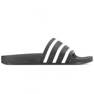 Adidas Adilette, Sneakers Basses homme - Noir (Core Black/White/Core Black) - 43 EU