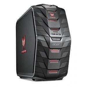 Acer Predator G6-720 Unité Centrale Gamer Noir (Intel Core i7, 16 Go de RAM, 2 To + SSD 256 Go, NVIDIA GeForce GTX 1080, Windows 10)