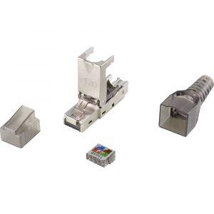 Renkforce Connecteur de confection du champ CAT6A RF-3530664 RJ45 mâle, droit noir (transparent) 1 pc(s)