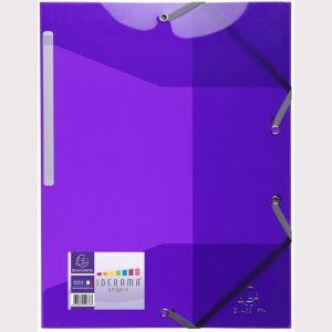 Exacompta 55676E - Chemise à élastique 3 rabats IDERAMA PP, coloris violet