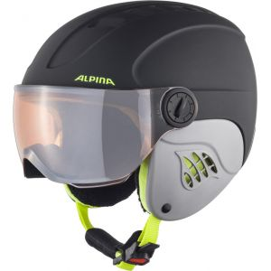 Alpina Casques Carat Le Visor Hm Junior - Charcoal / Neon Matt - Taille S