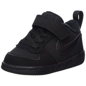 Nike Court Borough Low (TDV), Chaussures de Gymnastique Garçon, Noir (Black Black 001), 21 EU