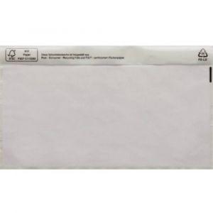 Poc tte pour doc ents DIN long transparent avec autocollant 1 paquet(s)