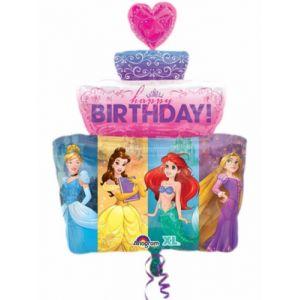 Ballon aluminium gâteau Princesses Disney (71 cm)
