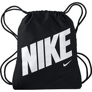 Nike BA5262 Sac de Sport Mixte Adulte, Noir/Noir/Blanc, 45.5 cm x 35.5 cm