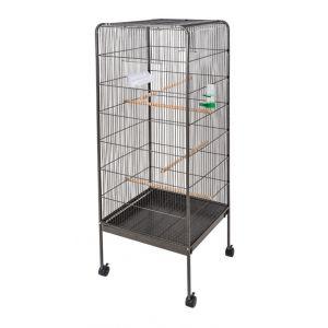 Volière cage à oiseaux en métal (14 x 54 x 54 cm)