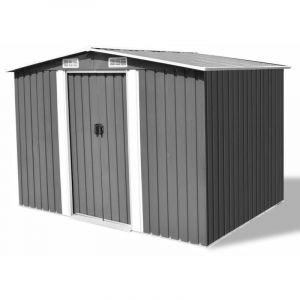VidaXL Abri de stockage pour jardin Métal Gris 257 x 205 178 cm