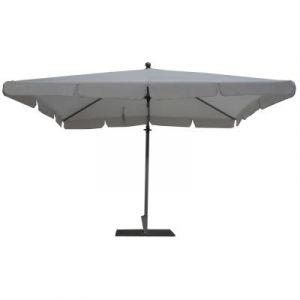 Pegane Parasol rectangulaire déporté coloris gris Dim : H 250 x D 300 X 200/4 baleines