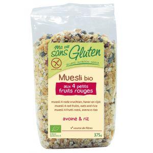 Ma vie sans gluten Muesli Bio aux 4 petits fruits rouges (375g)