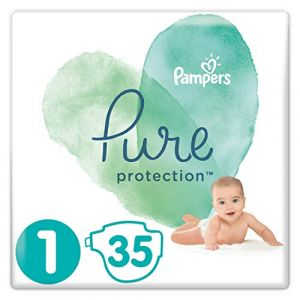 Pampers Pure Protection Taille 1 2-5 kg - 35 couches