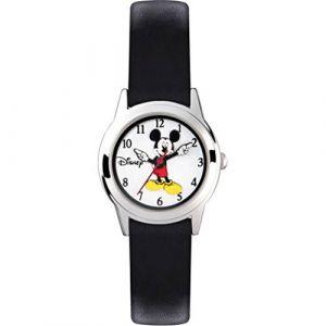 Mickey Mouse Montre Mixte Analogique Quartz avec Bracelet en Cuir MK1314