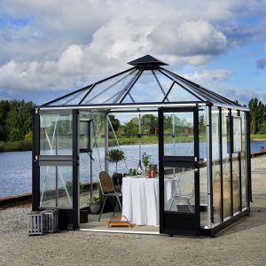 Juliana Serre de jardin OASE 8,8m² en aluminium et verre trempé 3mm