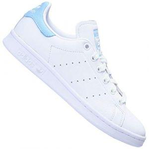 Adidas Stan Smith Blanc Bleu Ciel Femme 40 2/3 Baskets