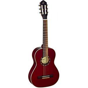 Ortega R121-1/2WR Guitare de concert avec housse Taille 1/2 Corps Acajou Table épicéa Bordeaux