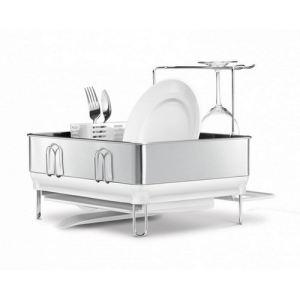cheap simplehuman egouttoir vaisselle en acier avec porte verre with egouttoir vaisselle gifi. Black Bedroom Furniture Sets. Home Design Ideas