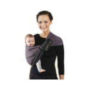 Je porte mon bébé Petite Echarpe sans Noeud Réversible - Anthracite Marron Glacé