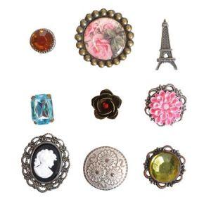 Artémio Attaches parisiennes - 9 brads Vintage Rose