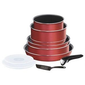 Tefal Casserole INGENIO ESSENTIAL Rouge Surprise - Set de 10 pièces L2369002