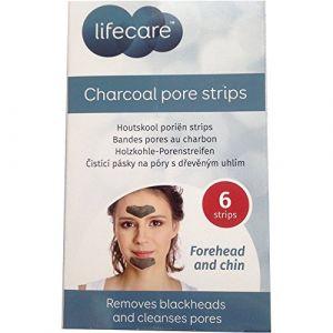 Lifecare 6 patchs bandes pores au charbon