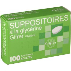 Gifrer barbezat Suppositoires Glycerine adultes - 100 Suppositoires