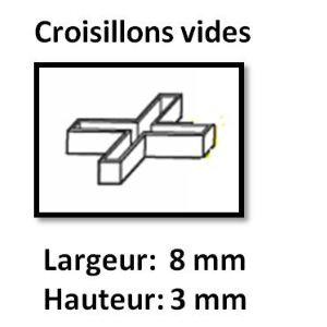 Image de Far Tools 113871 - 100 croisillons vides (largeur 8 mm / hauteur 3 mm)