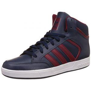 Adidas Varial Mid, Baskets Hautes Homme, Bleu Navy/Collegiate Burgundy/FTWR White, 44 EU