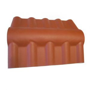 McCover Faîtière PVC pour toiture imitation tuile moderne - Coloris - Terre cuite, Epaisseur - 15cm, Largeur - 43 cm, Longueur - 74 cm Terre cuite - 74 cm / 43 cm / 15cm