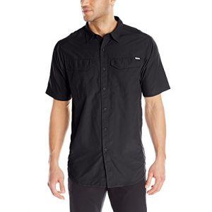 Columbia Chemise de Randonnée à Manches Courtes Homme, Silver Ridge Short Sleeve Shirt, Nylon, Noir (Black), Taille: S, AM7474