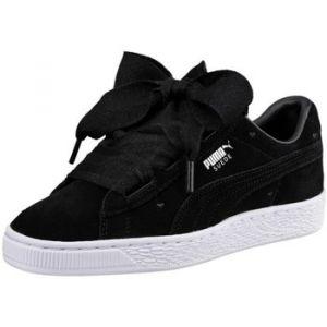 Puma Suede Heart Valentine Jr, Sneakers Basses Fille, Noir Black Black, 39 EU