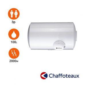 Chaffoteaux Chauffe eau blindé - 100l - horizontal mural en dessous -