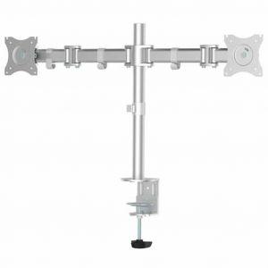 NeoMounts NewStar NM-D135DSILVER Support de table pour écran 25,4 cm (10) - 76,2 cm (30) inclinable + pivotant