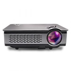 Yonis Vidéoprojecteur HDMI Full HD Haut-Parleurs Stéréo LED LCD Télécommande Noir
